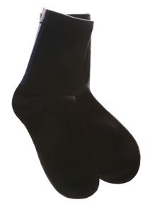 Chaussettes à rayure verticale - noir