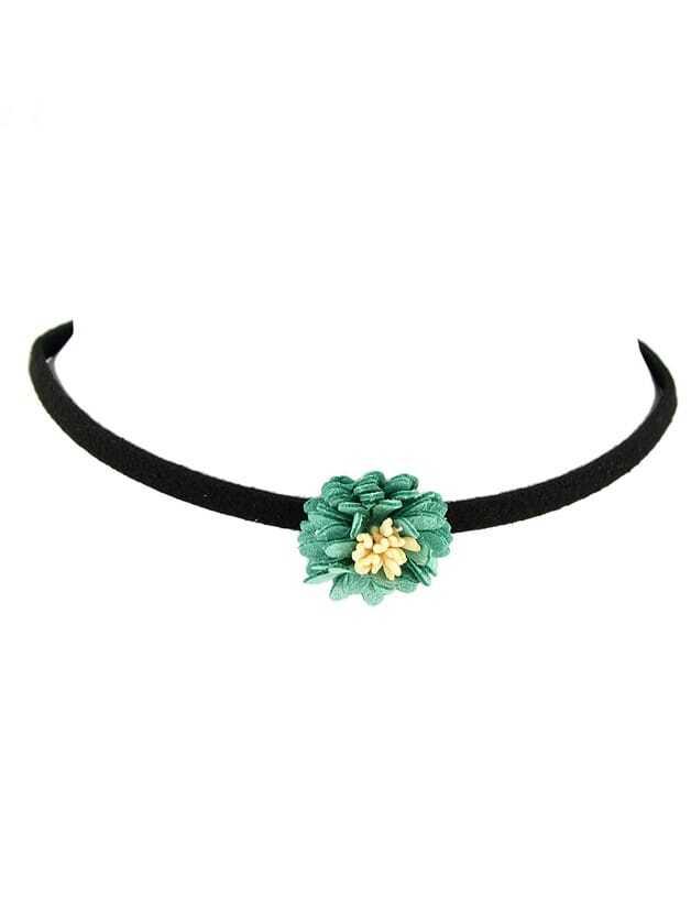 Фото Green Simple Model Flower Pendant Choker Necklace. Купить с доставкой