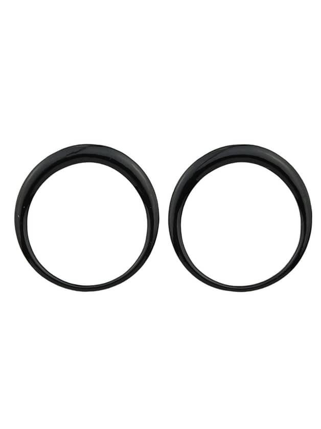 Black Enamel Big Round Stud EarringsBlack Enamel Big Round Stud Earrings<br><br>color: Black<br>size: None