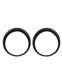 Black Enamel Big Round Stud Earrings