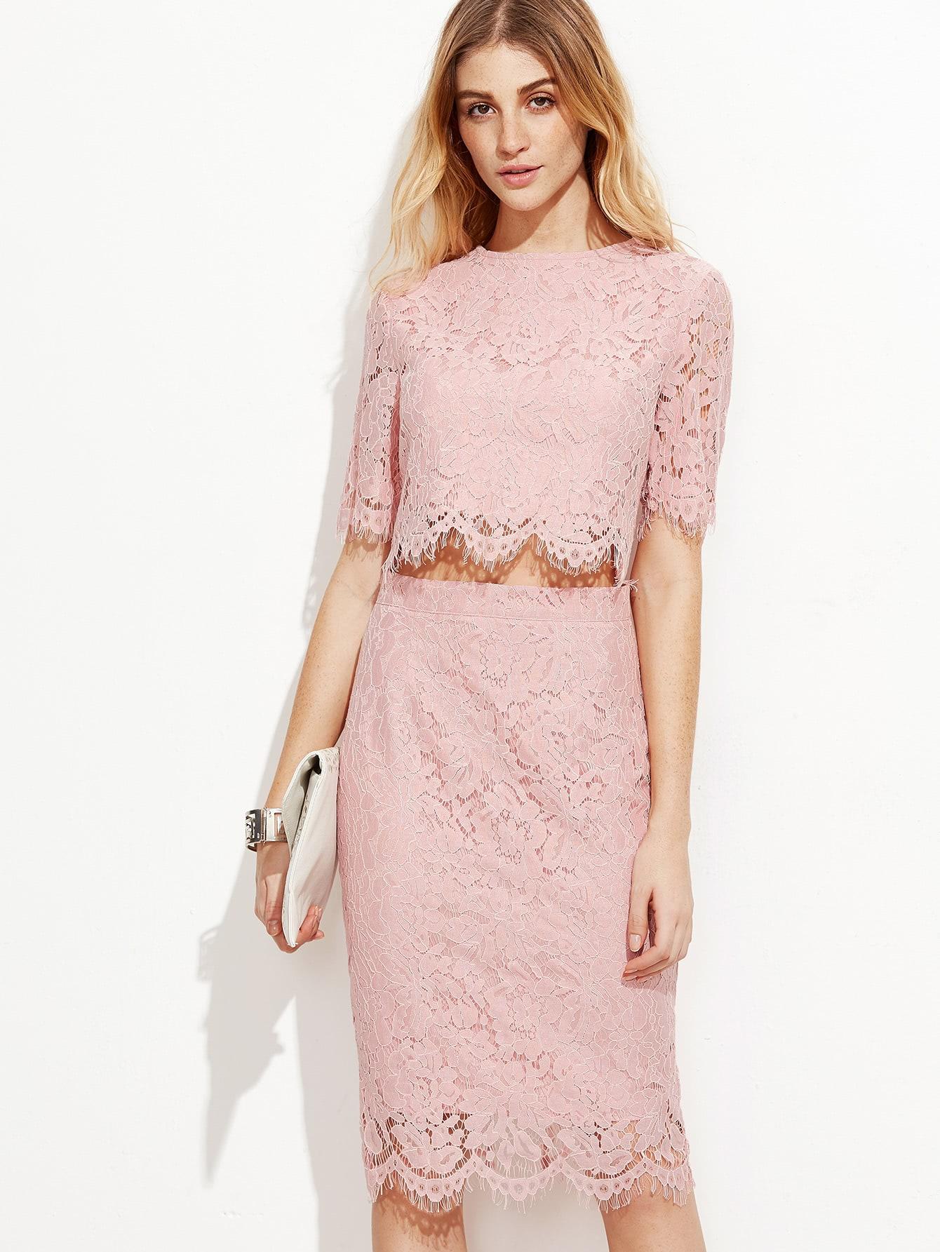 Фото Open Midriff Floral Eyelash Lace Overlay Dress. Купить с доставкой