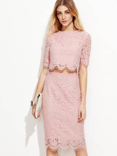 Open Midriff Floral Eyelash Lace Overlay Dress