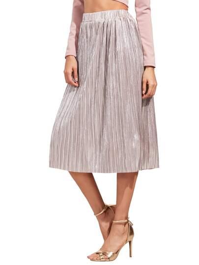 Pleated Circle Midi Skirt