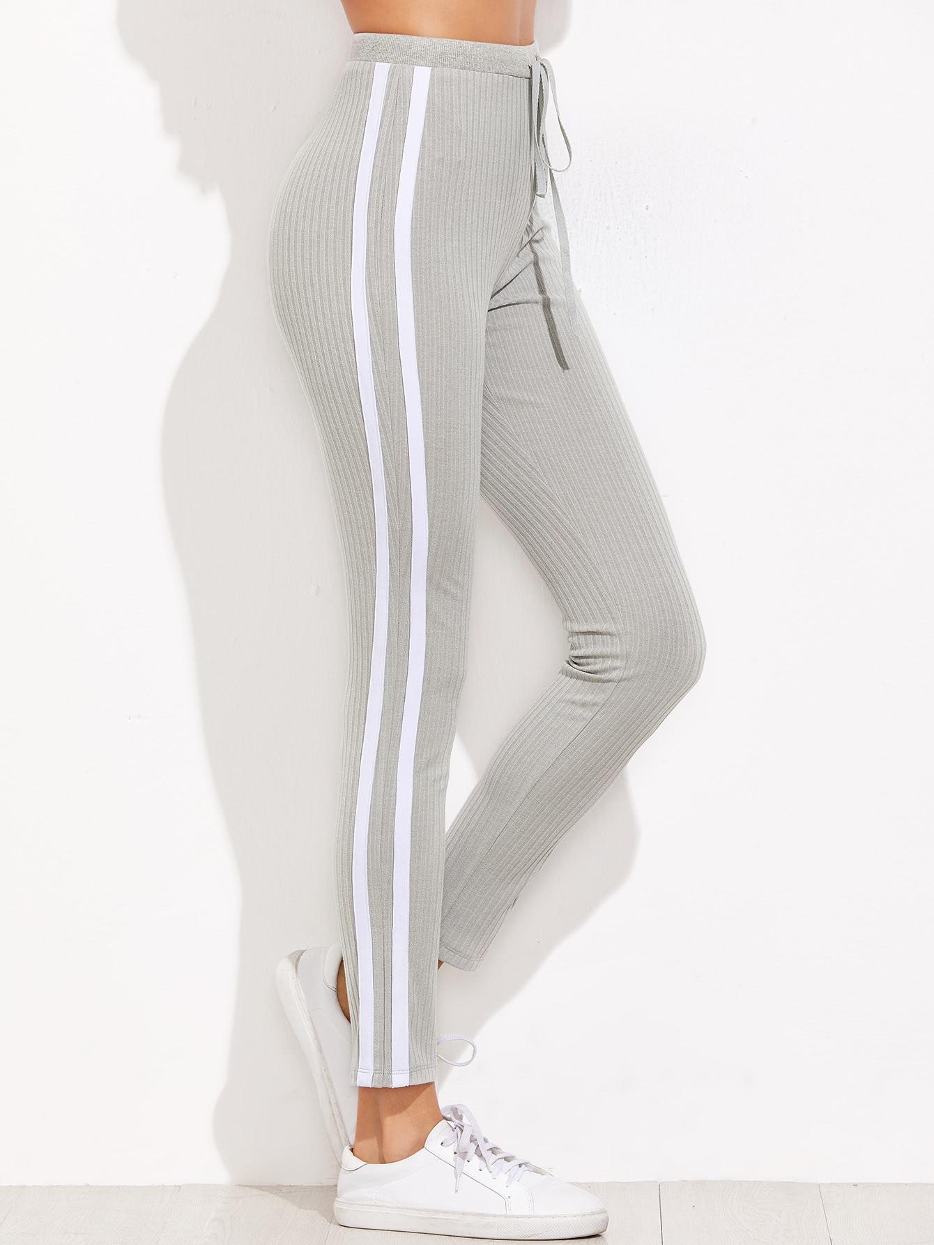Купить Светло-серые модные брюки, Andy, SheIn
