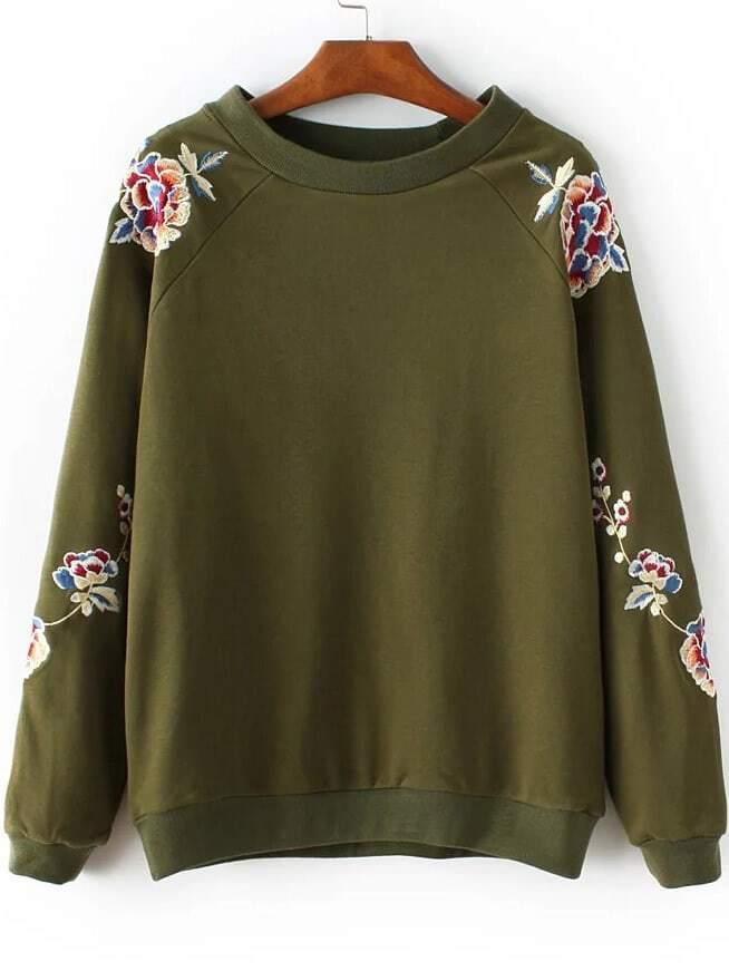 Crew Neck Raglan Sleeve Sweatshirt two tone raglan sleeve sweatshirt