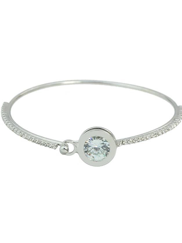 Silver Color Rhinestone Thin Bracelet