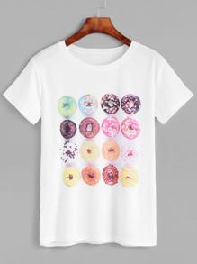 Doughnut Print Tee