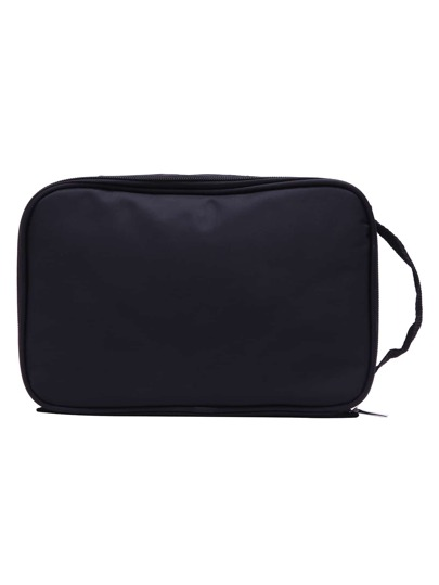 Black Nylon Travel Makeup Bag