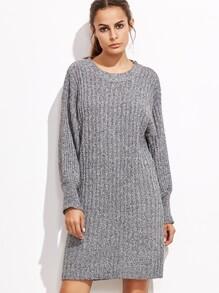 Heather Grey Drop Shoulder Sweater Dress