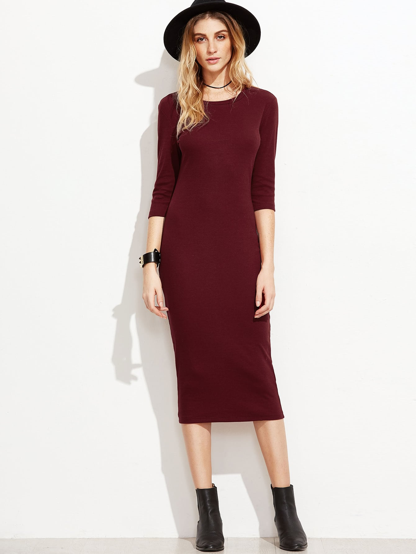 Image of 3/4 Sleeve Pencil Dress
