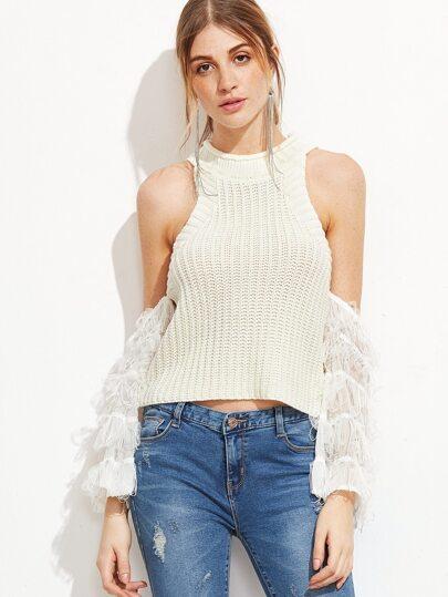 Пуловер С Открытым Плечом С Доставкой