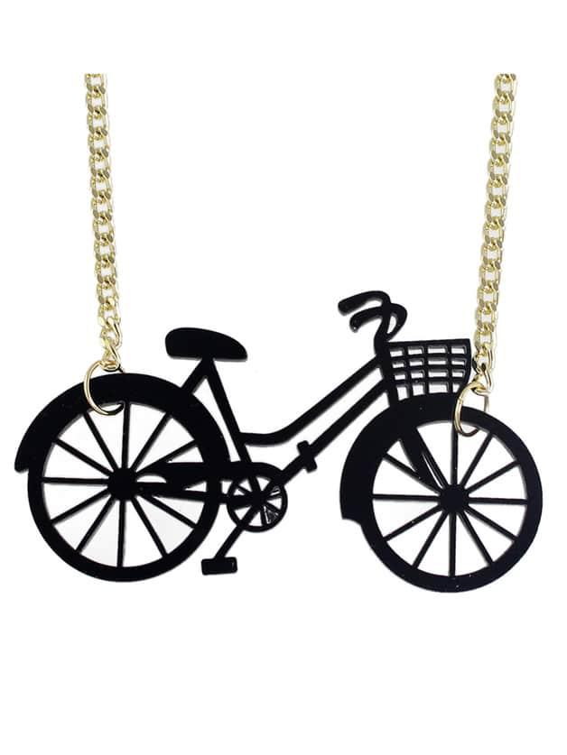 New Cute Vivid Bike Shape Pendant Necklace
