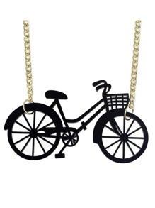 New Cute Vivid Bike Shape Pendant Necklace
