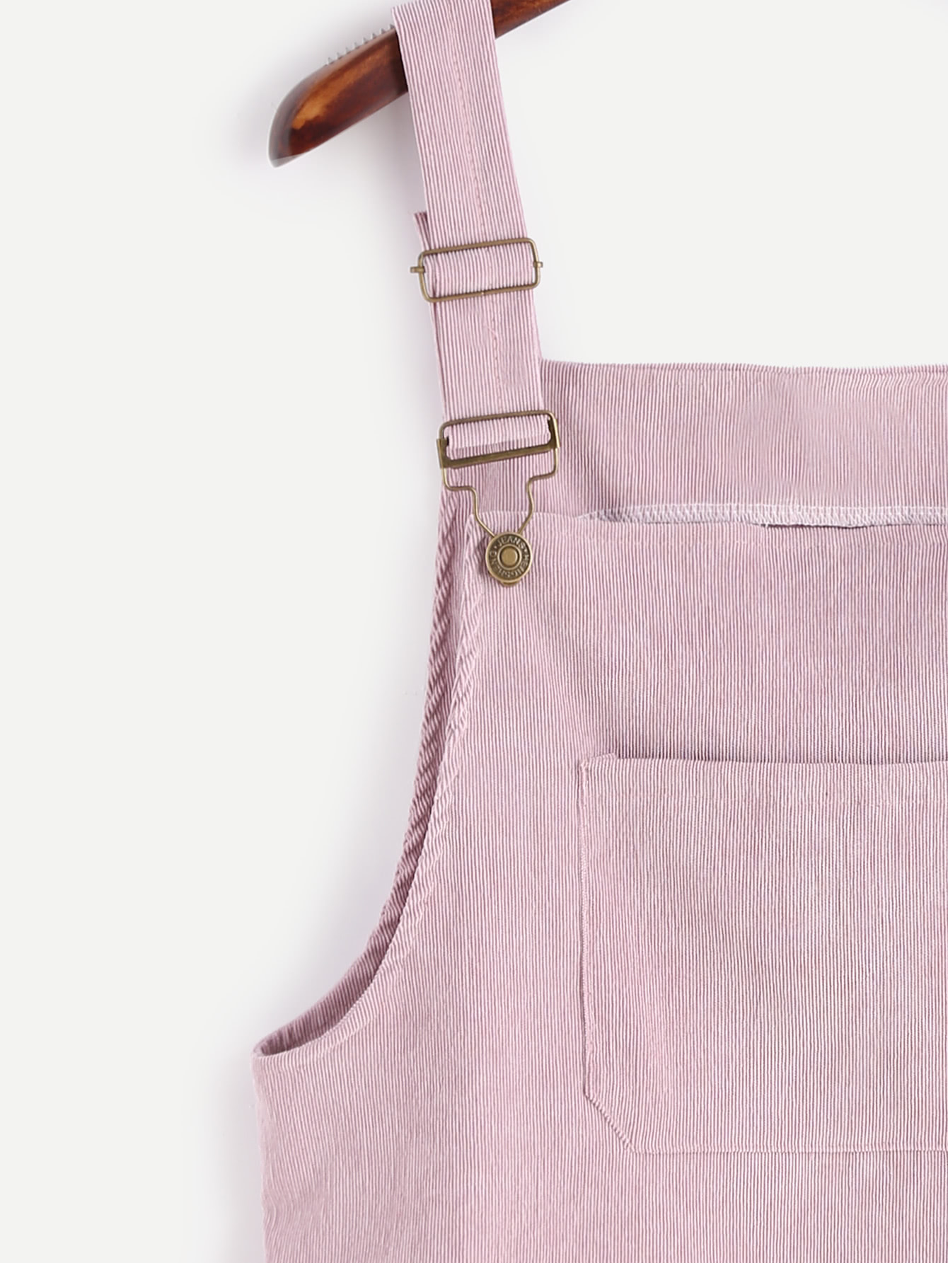 corduroy overall dress with pocket shein sheinside