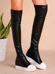 Botas de PU - negro