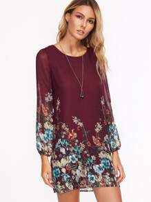 Florals Chiffon Dress