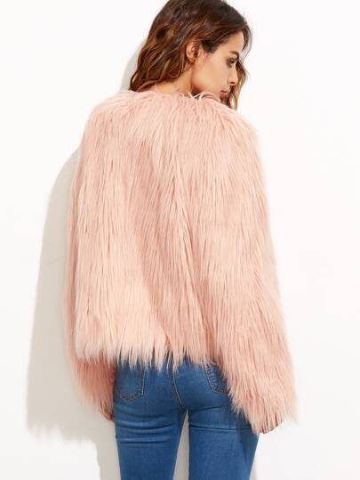 Faux Fur Coat -SheIn(Sheinside)