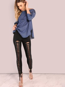 All Lace Up Skinny Pant