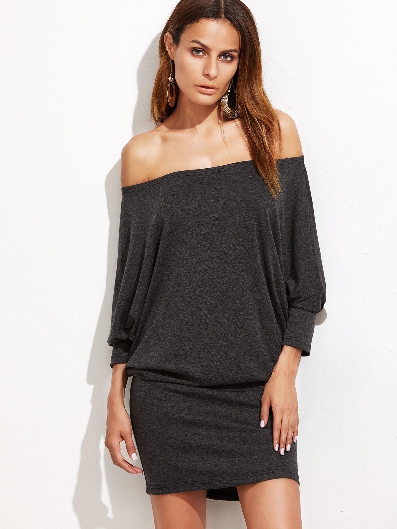 Off Shoulder Blouson Dress off shoulder ditsy dress