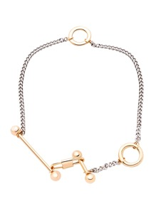 Special Design Gold Plated Lock Choker