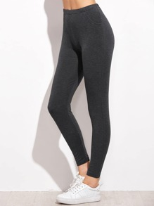 Dark Grey Skinny Leggings
