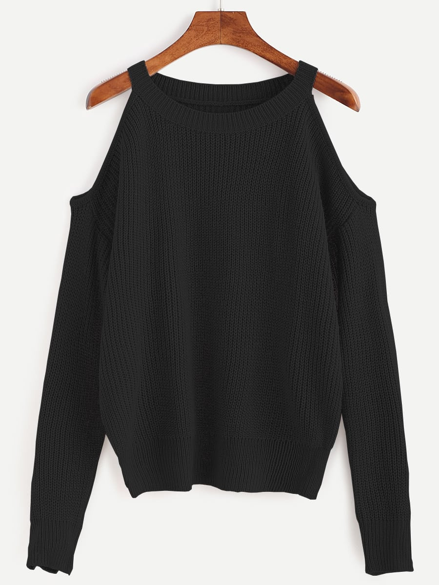 Open Shoulder Knit Sweater open knit long sweater