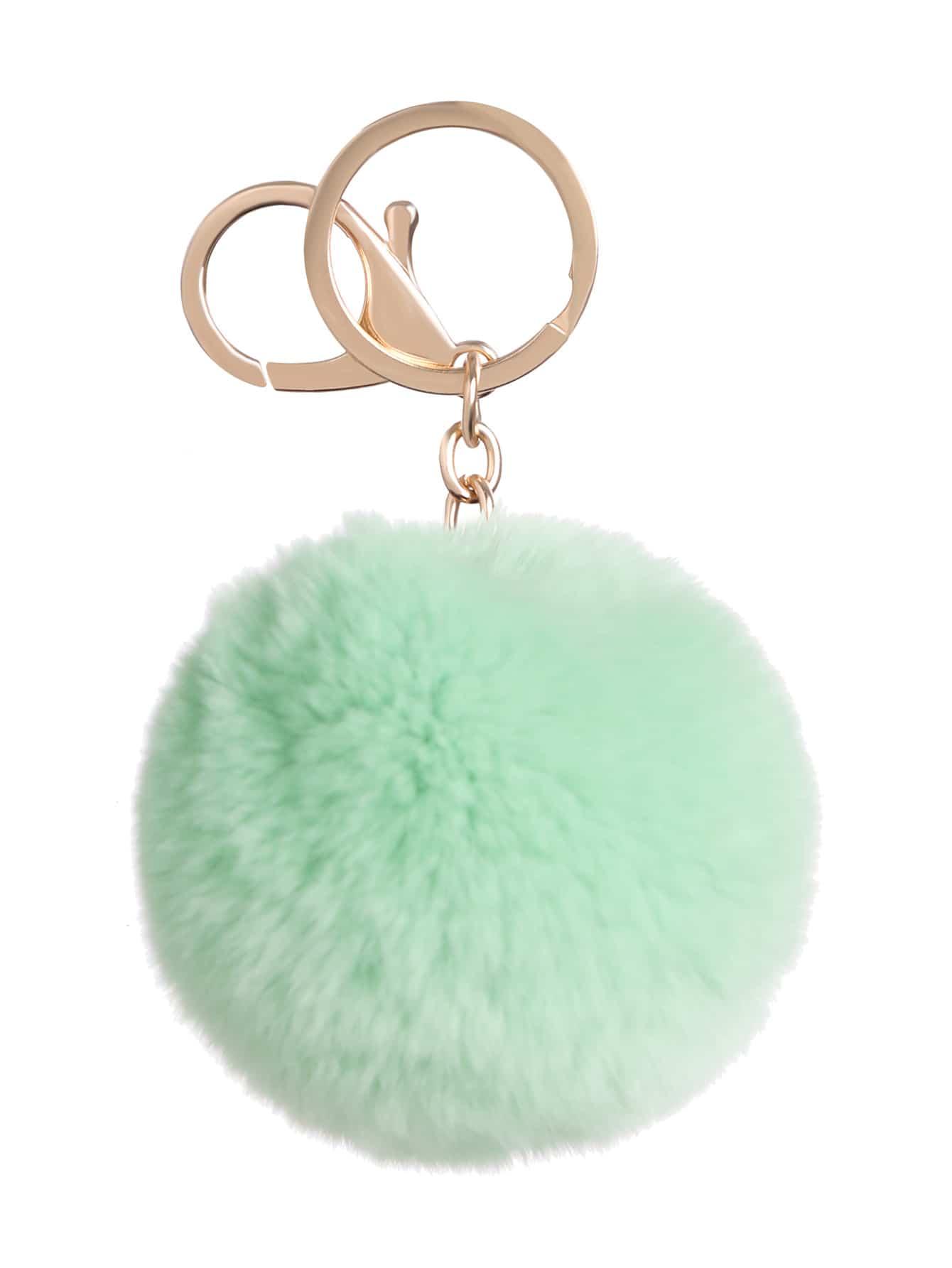 Фото Mint Green Pom Pom Keychain. Купить с доставкой