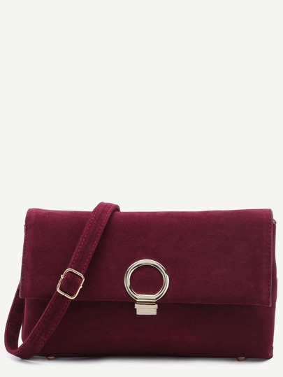 Maroon Nubuck Leather Messenger Bag