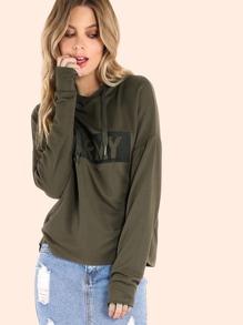 Raw Cut Army Hoodie Sweatshirt OLIVE