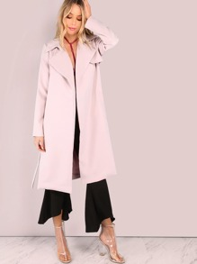 Open Waterfall Trench Coat BLUSH