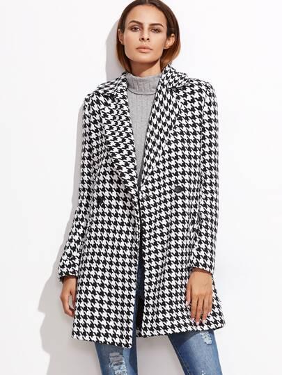 Abrigo de pata de gallo - negro y blanco