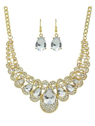 Collection de bijou en strass - blanc
