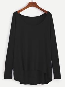 Camiseta asimétrica - negro