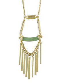 New Model Gold Color Spike Long Pendant Necklace