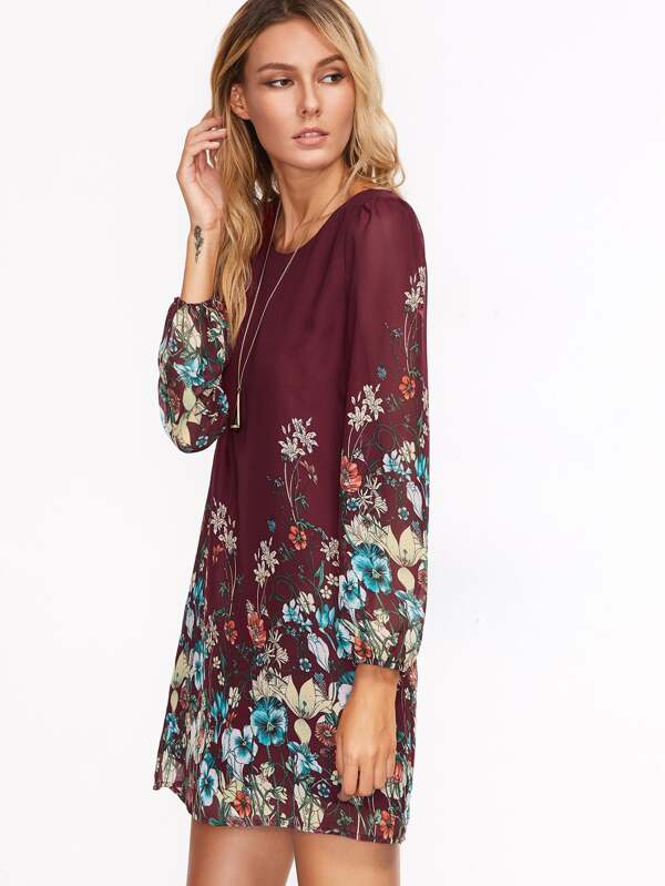 Kleid langarm bunt