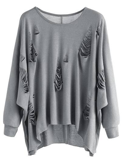 Kapuzensweatshirt kontrast Kaktus Stickereien mit Tunnelzug-weiß