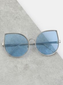 Oversized Teardrop Sunglasses BLUE