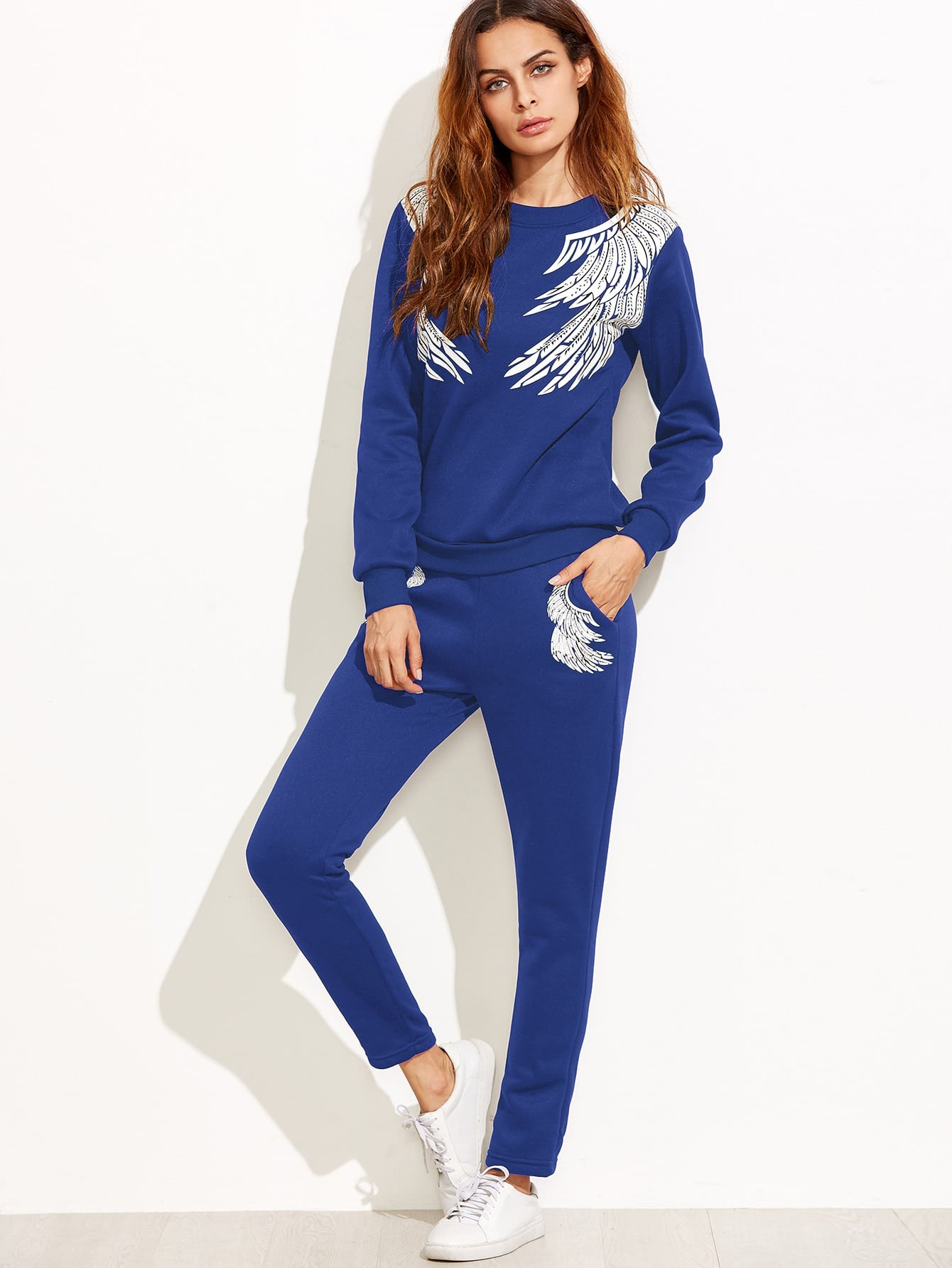 Image of Angel Wings Print Tracksuit
