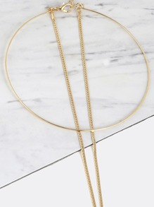 Layered Chain Hoop Necklace GOLD