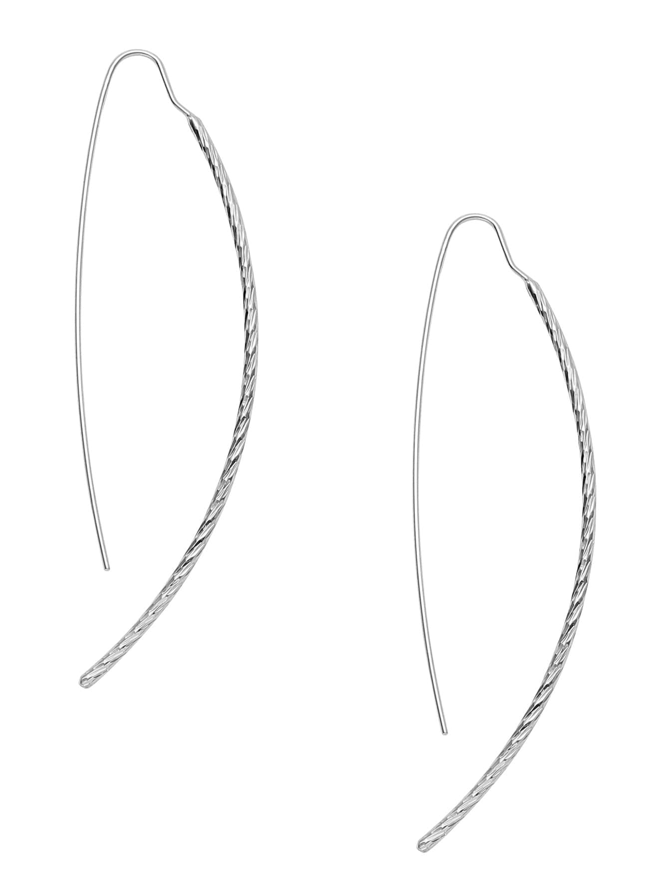 Silver Plated Smooth Design Drop EarringsSilver Plated Smooth Design Drop Earrings<br><br>color: Silver<br>size: None