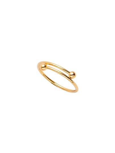 Gold Plated Smooth Design Wrap Ring