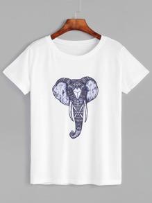 Sweat-shirt décontracté contrasté - gris clair