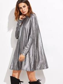 Silver Keyhole Back Tent Dress