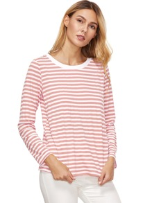 Pink Striped Long Sleeve T-Shirt