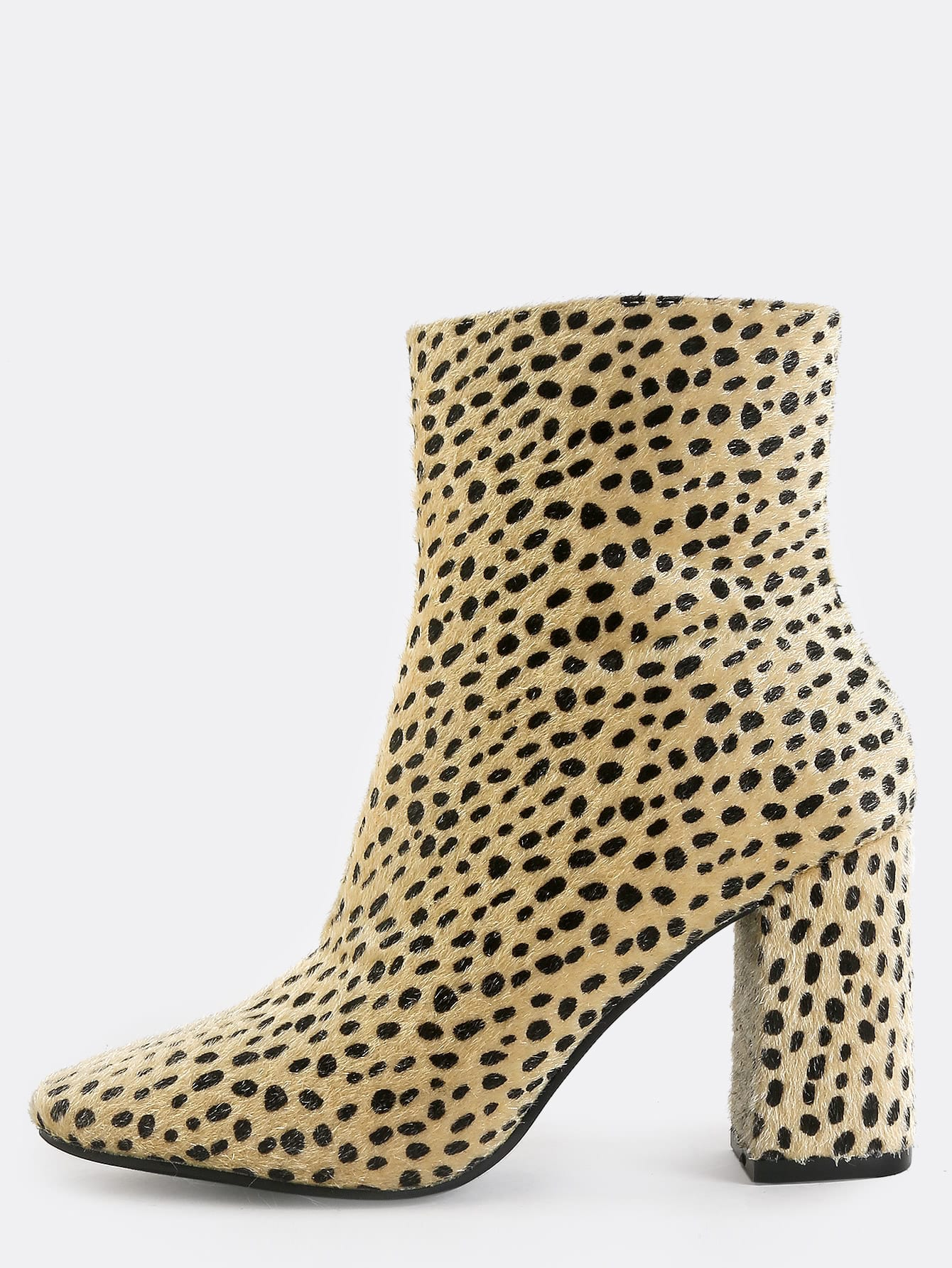 Фото Leopard Square Toe Booties MULTI. Купить с доставкой