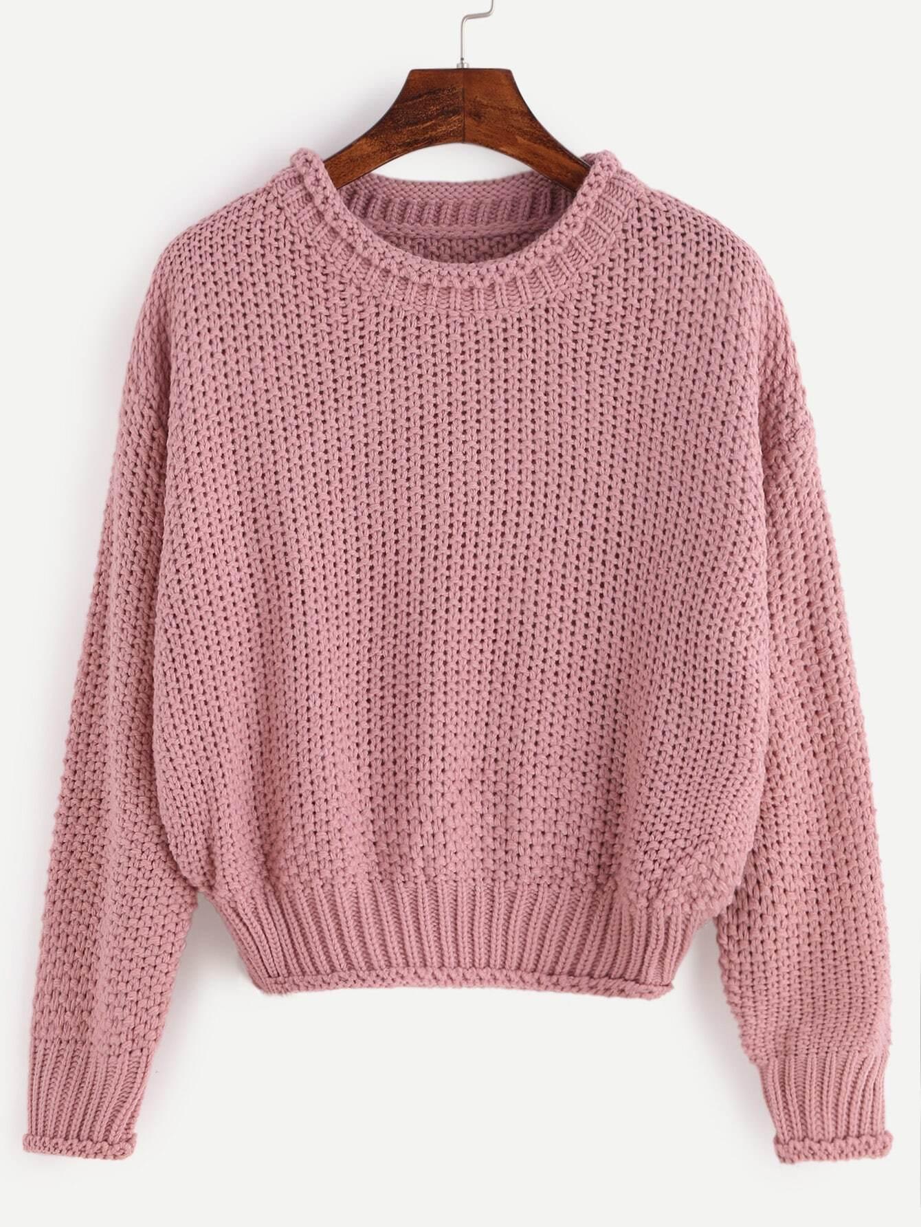 Вязание кроп свитера 54