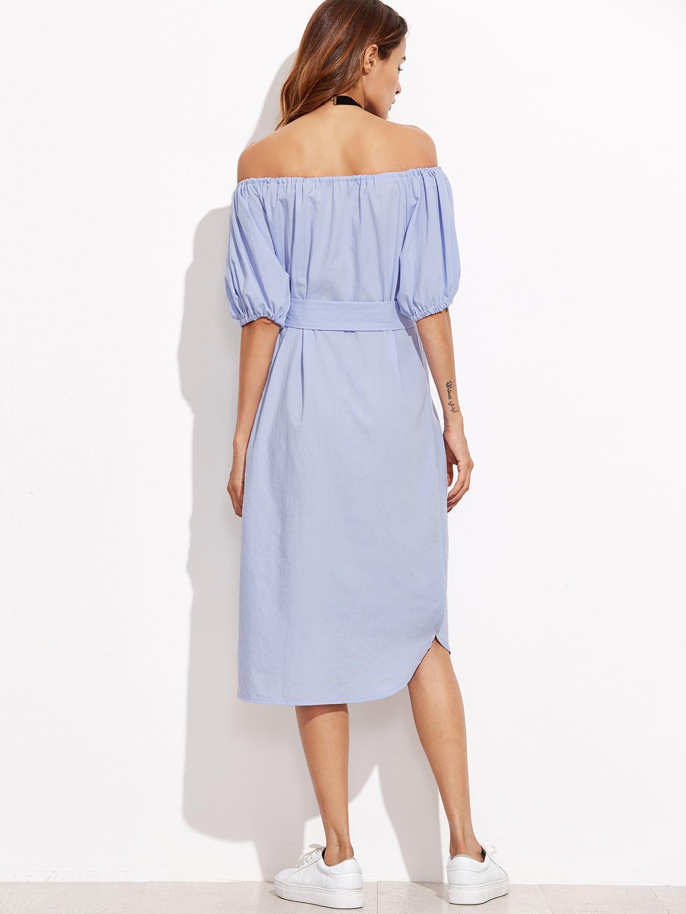 Купить Синее Модное Платье