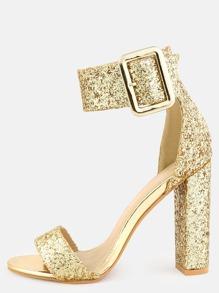 Sandales avec lacet pailleté cheville