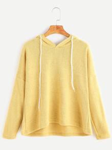 Yellow Hooded Drop Shoulder T-shirt