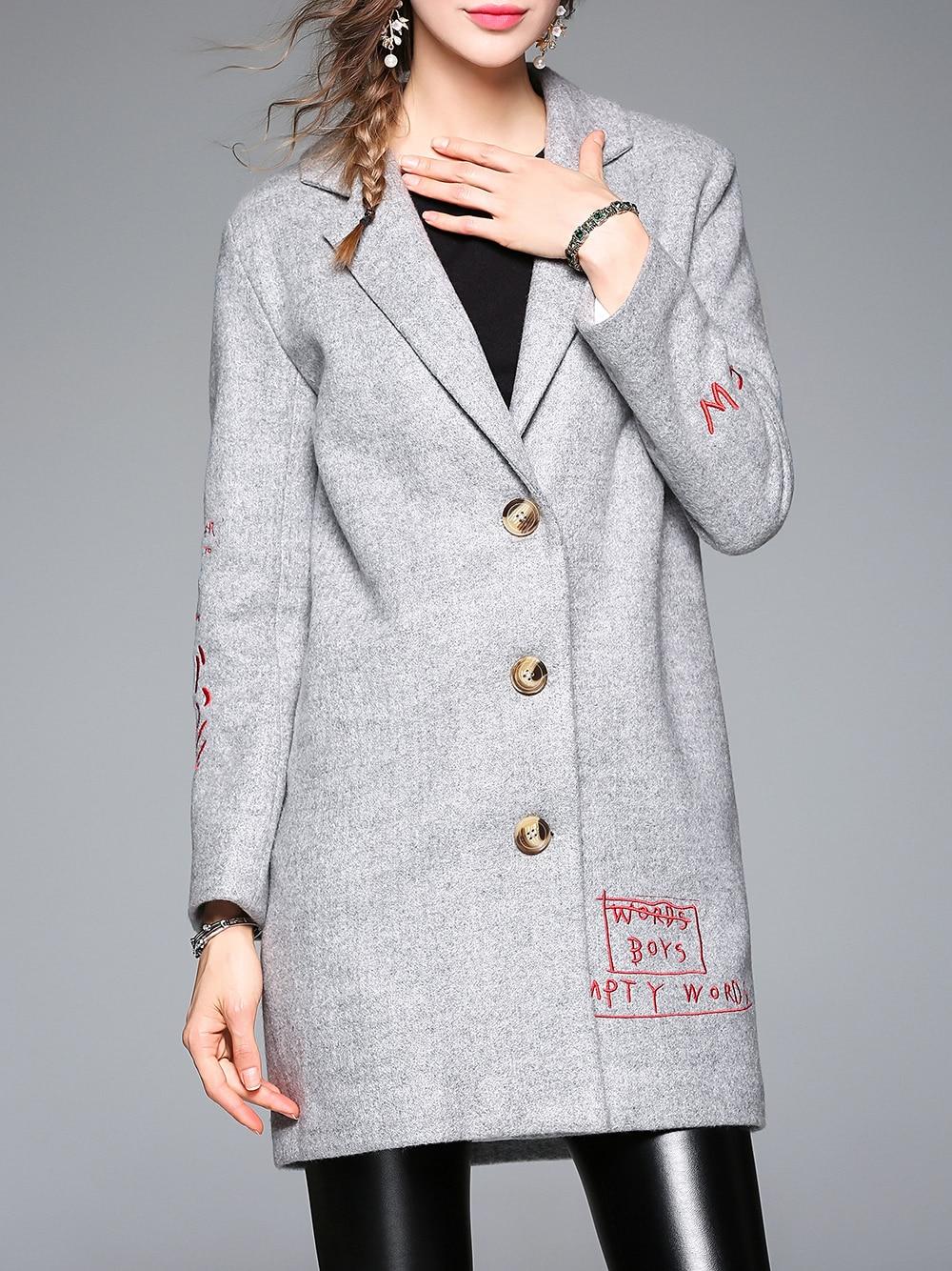 Пальто с вышивкой (60 фото модное 2018, с золотой вышивкой, с вышивкой) 4